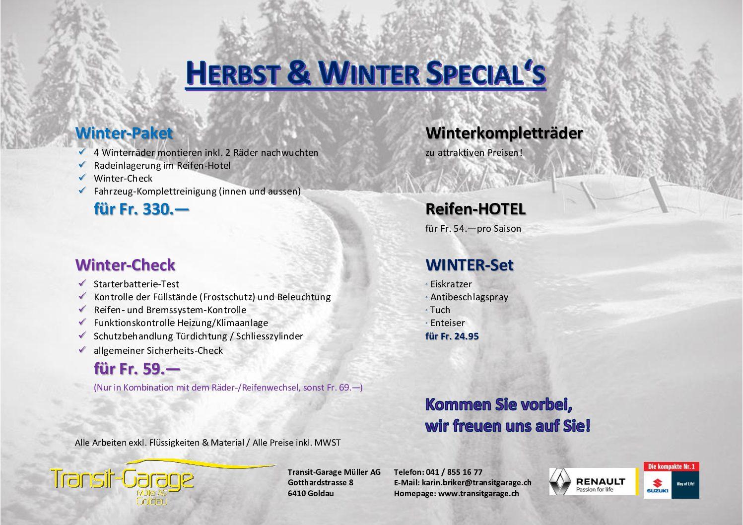 Herbst und Winter Special's