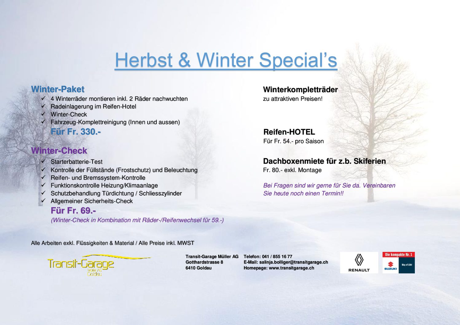 Winter Special's